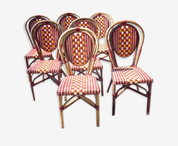lot de chaises bistrot de terrasse chaises caf fran ais chaises type parisienne chaises. Black Bedroom Furniture Sets. Home Design Ideas
