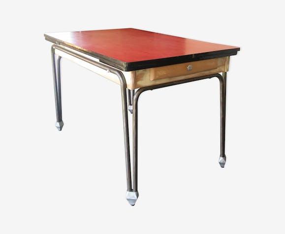 Ancienne Table De Cuisine Vintage Des Annees 50 Formica
