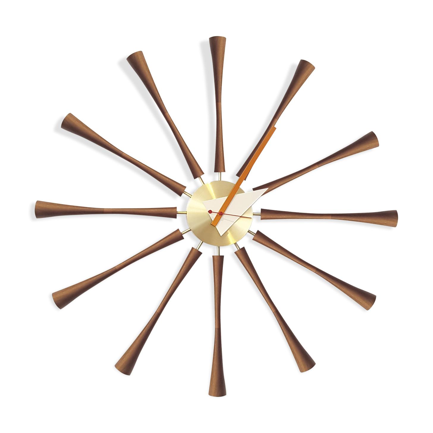 horloge george nelson pour vitra - laiton - marron - design - 6ncjd2n