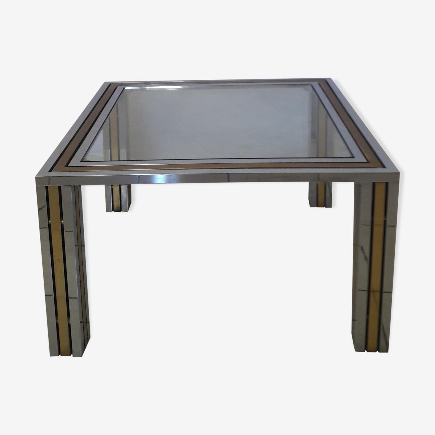 Table basse carrée Roméo Rega design minimaliste