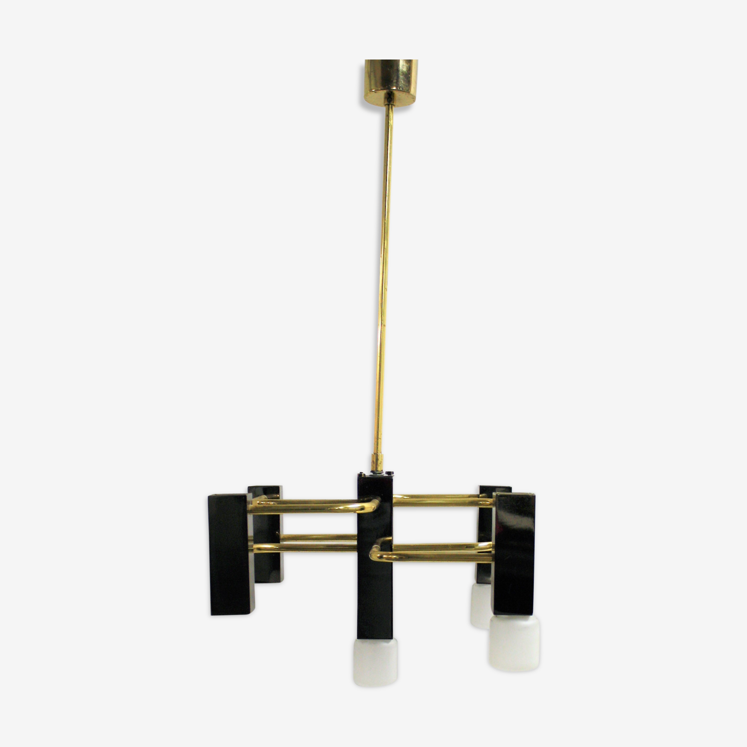 Brass chandelier by Maison Sciolari, 1960