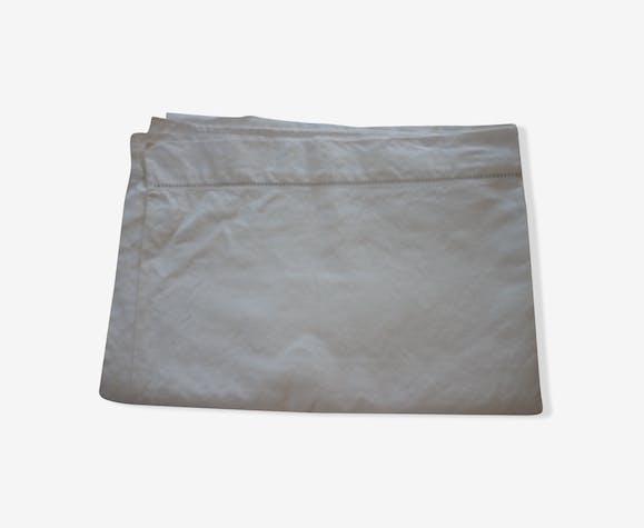 Drap coton metis blanc ancien 3m10x2m