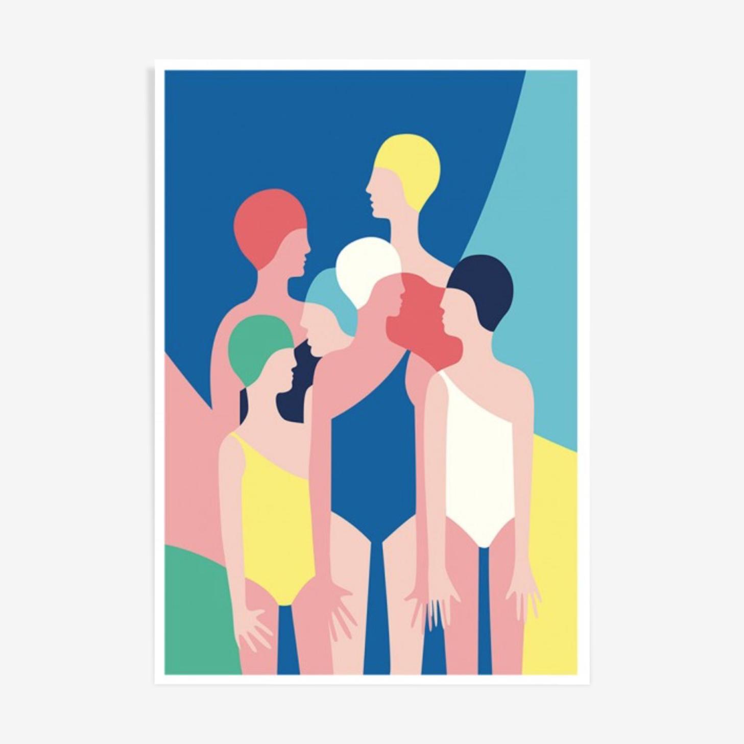 "Tirage ""Poolside gang"" de Sabrina Chess"