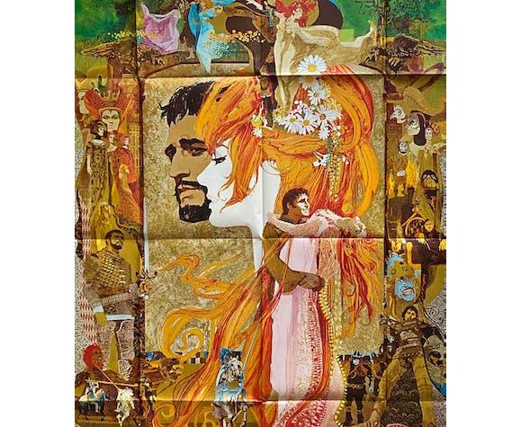 """Affiche cinéma """"Camelot"""" Vanessa Redgrave 120x160cm 1967"""