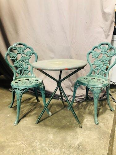Set des meubles du jardin