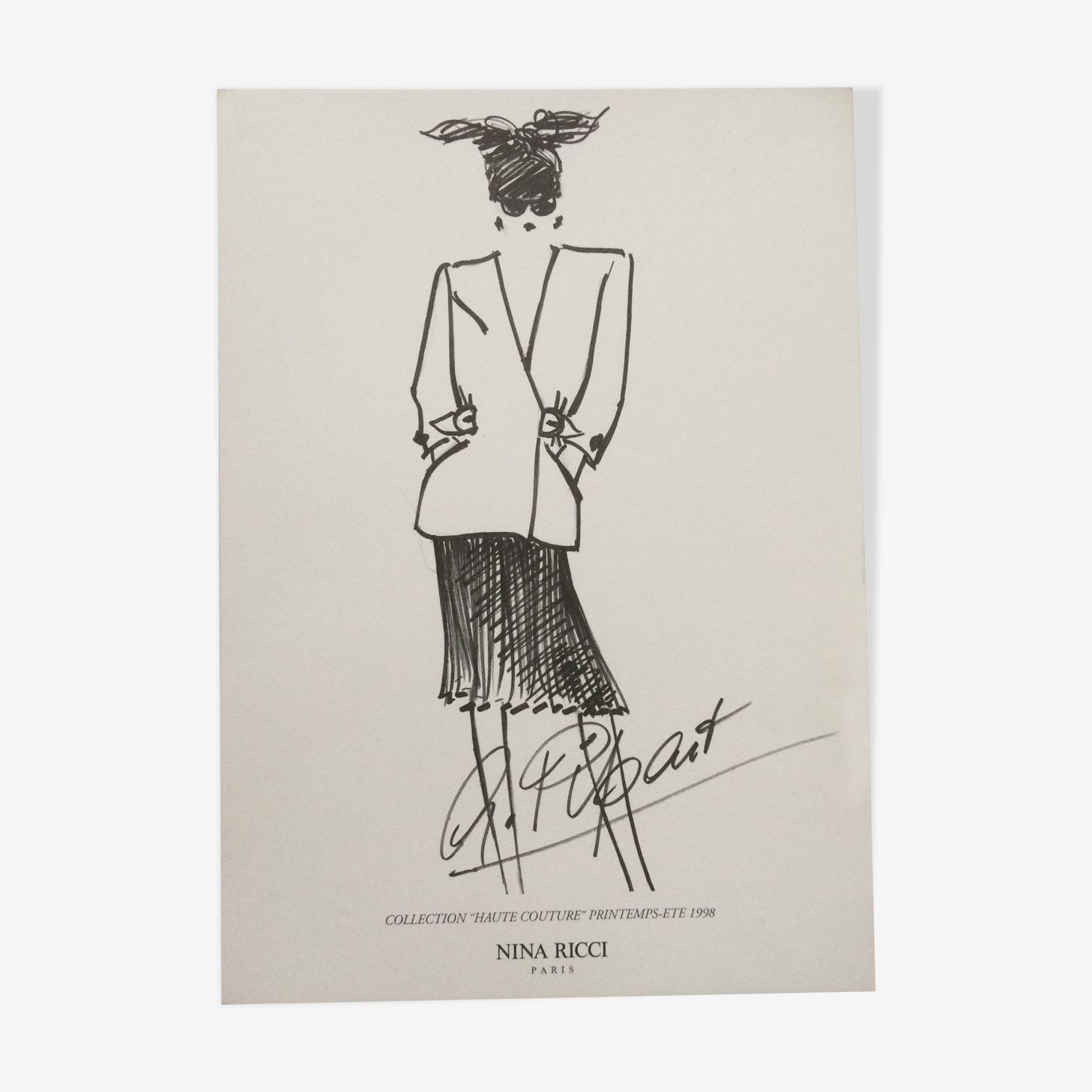 Nina Ricci, illustration de mode des années 90