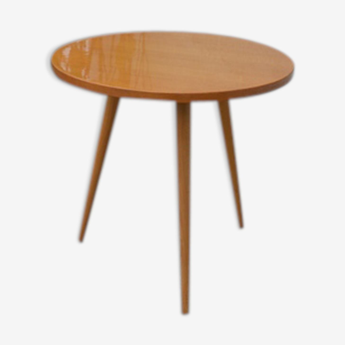 Table ronde basse vintage