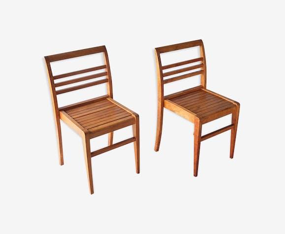 Paire de chaises René Gabriel, reconstruction 1940/1950
