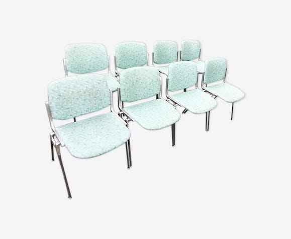 8 anciennes chaises de bureau Castelli - modèle DSC 106 de Giancarlo Piretti
