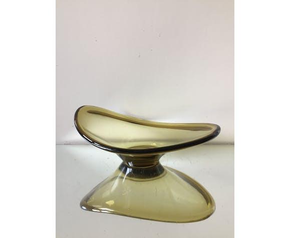 Sculptural Holmegaard trinket bowl by Per Lutken