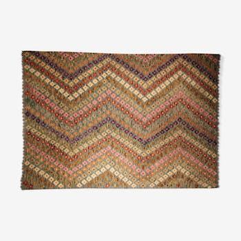 Tapis kilim pachtoune en laine 225 x 160 cm