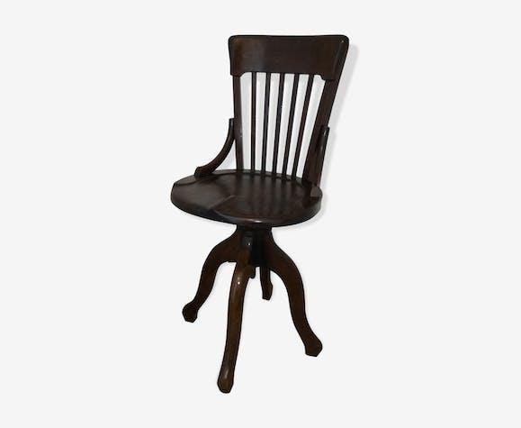 Chaise De Bureau Baumann Ancienne Bois Matériau Bois