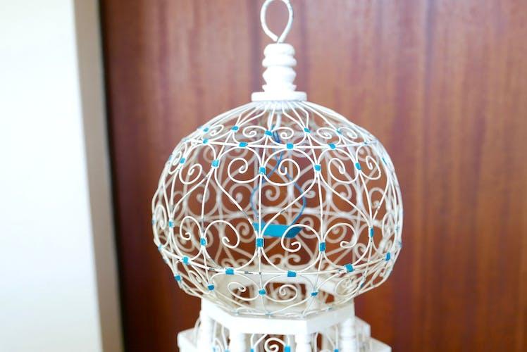 Cage tunisienne en bois et en métal, années 70