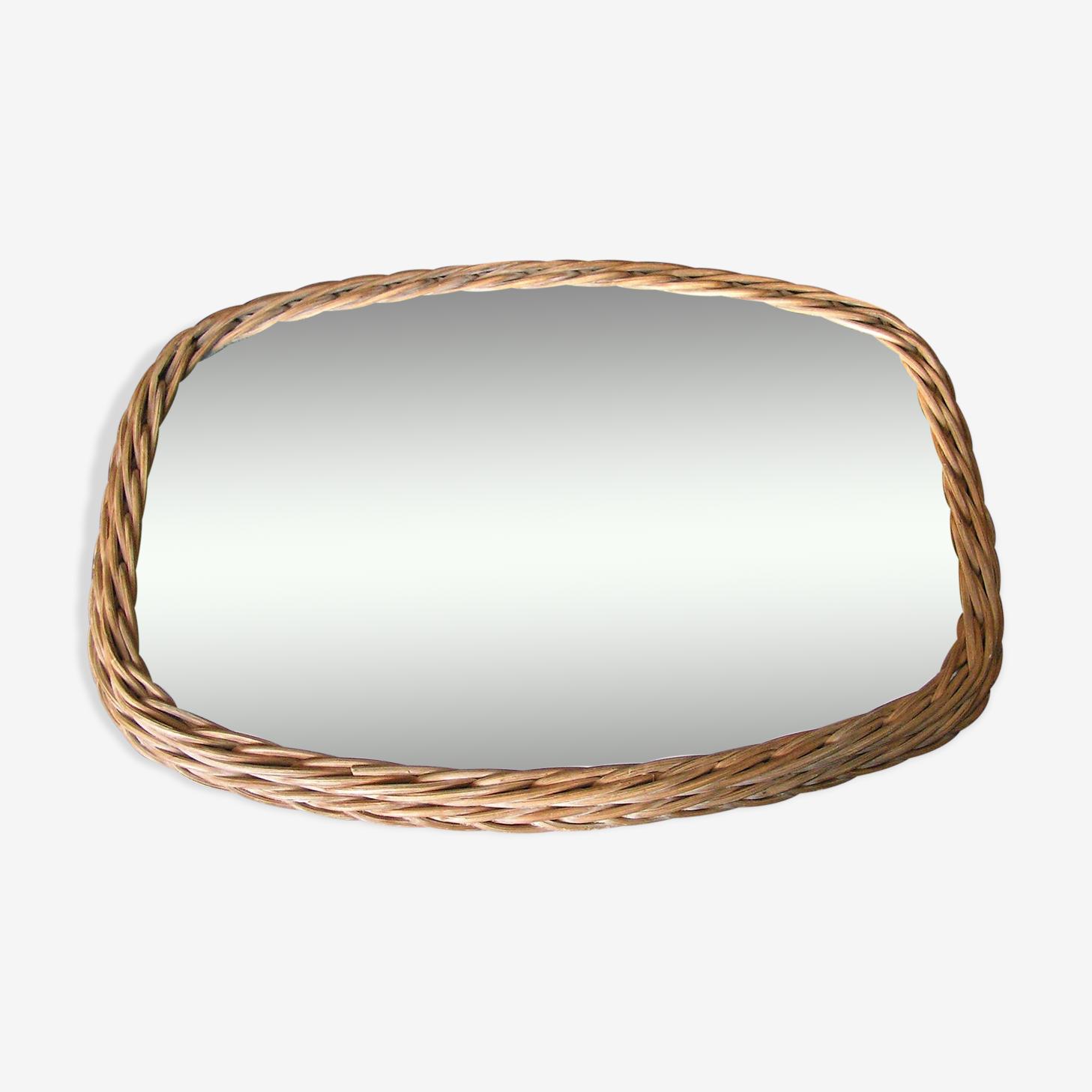 Rattan mirror 42x30cm