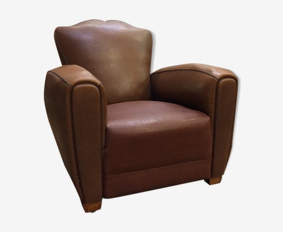 Club armchair with backrest moustache 50