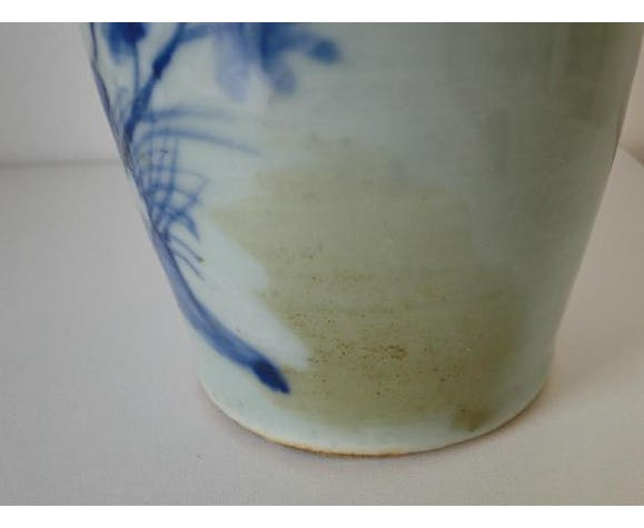 Vase blue and white China