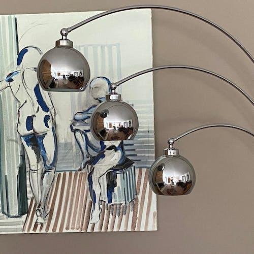 Lampadaire « Muguet» par Goffredo Reggiani 1970