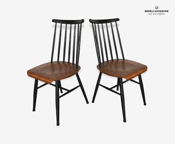 Fanett TeckIlmari En Bois 1960 Suite De 2 Chaises Tapiovaara mNn0w8Oyv
