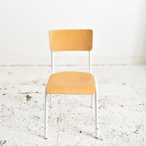Lot de 6 chaises d'école françaises blanches