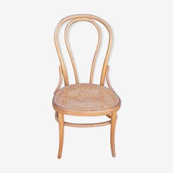 Chaise bistrot Fischel autrichien 1900 bois courbé et cannage