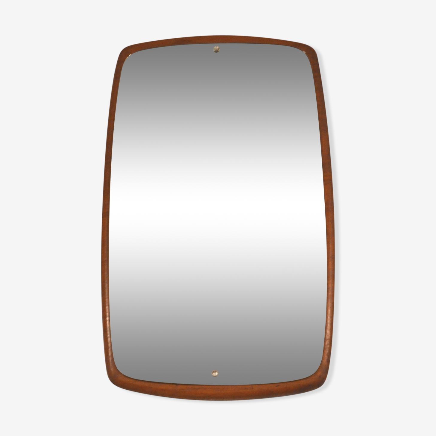 Scandinavian teak 60s mirror 66 x 38 cm