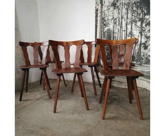 Set de 6 chaises bistrot en bois