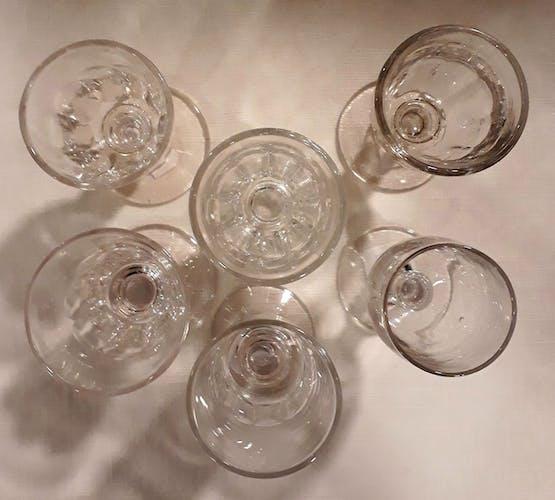 Set de 6 verres à liqueur dépareillés