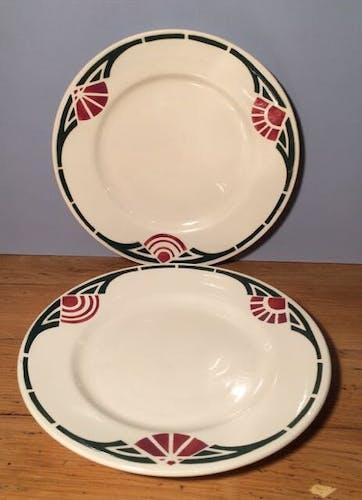 Duo d'assiettes début de siècle