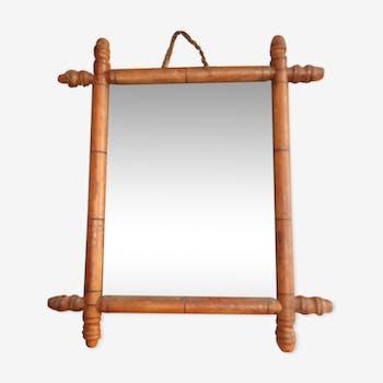 Miroir de barbier en bois