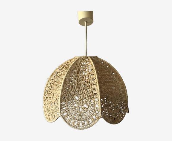 Macrame hanging lamp