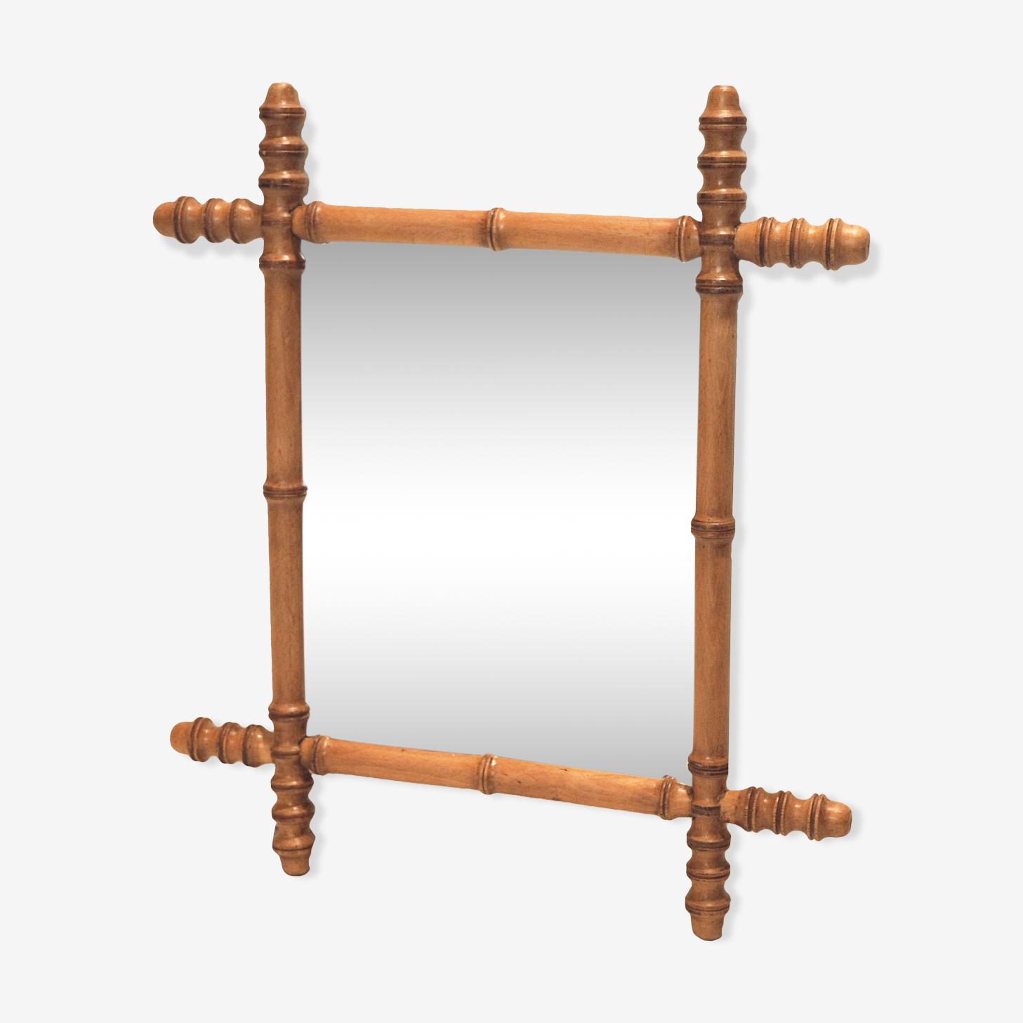 Miroir bambou 1930 - 41x47cm