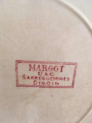 "Assiettes plates Digoin Sarreguemines modèle "" Margot"""