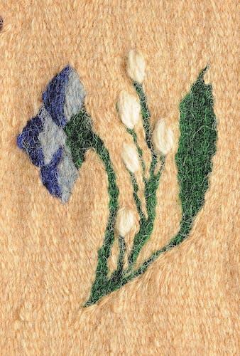 Vintage floral rug, handwoven, Romania - 288x200cm