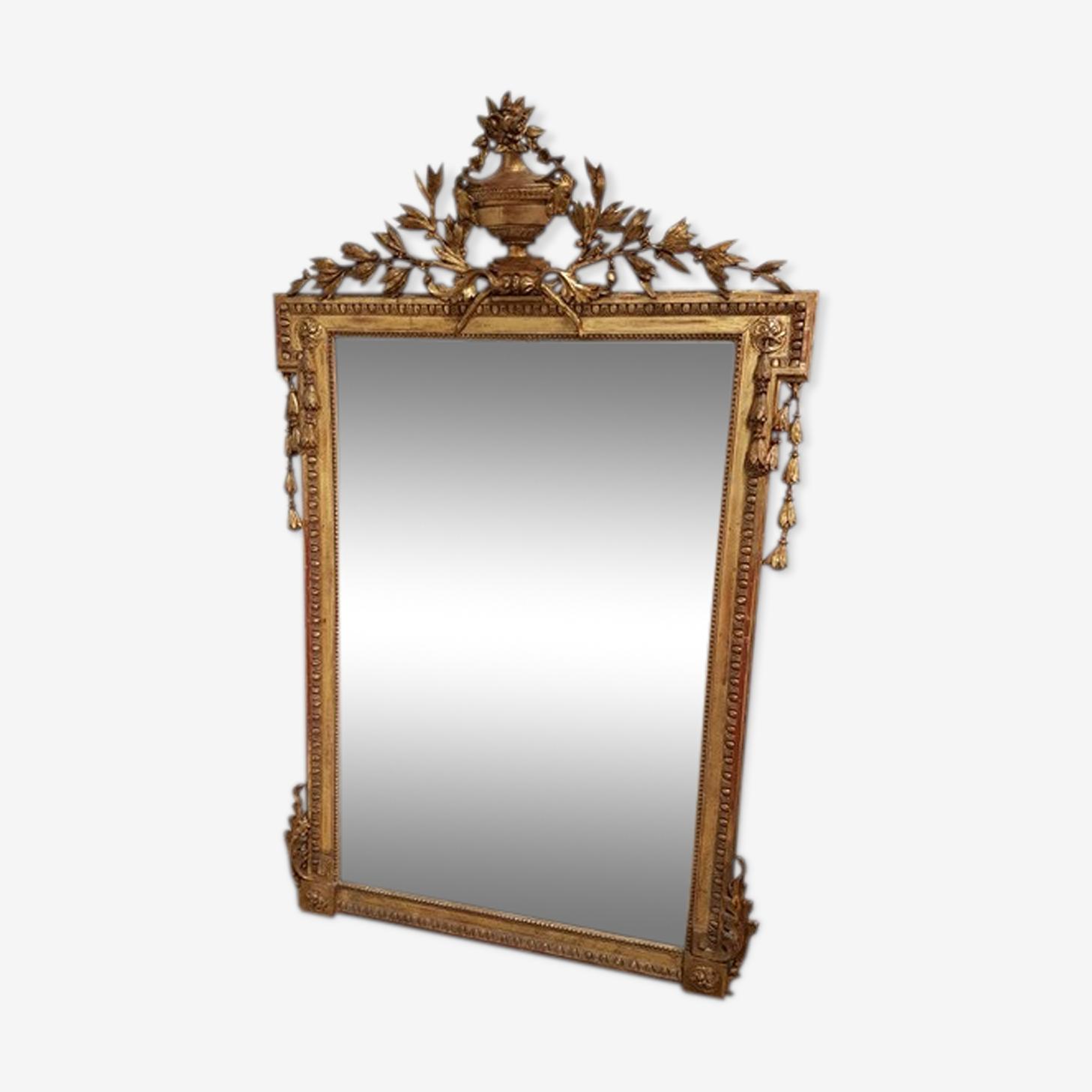 Miroir Louis XVl doré 110x175cm