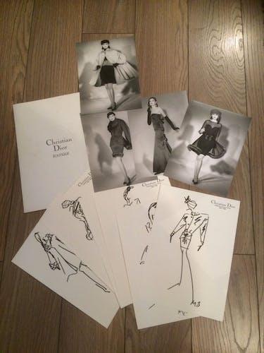 Illustration de mode de presse, Christian Dior, collection automne, hiver 1987/1988
