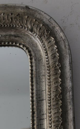 Miroir argenté ancien