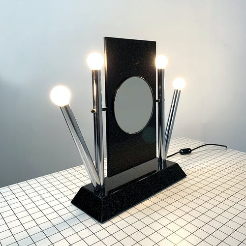 """Miroir de table """"Yucca"""" par Anna Anselmi pour Bieffeplast, 1980"""