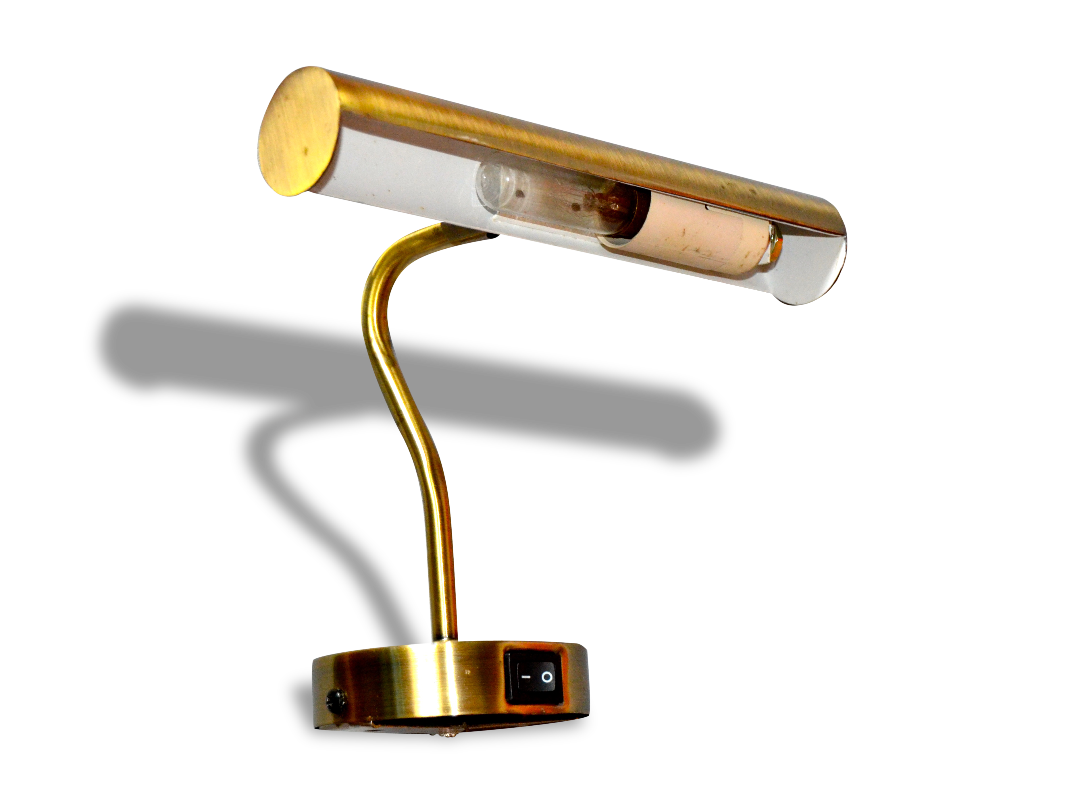Lampe de bureau ou applique à tableaux en laiton vintage