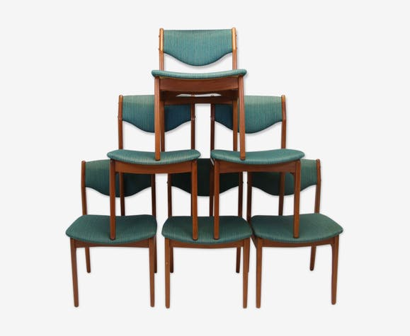 Danish Dining Table Chairs Set Of 6 Selency