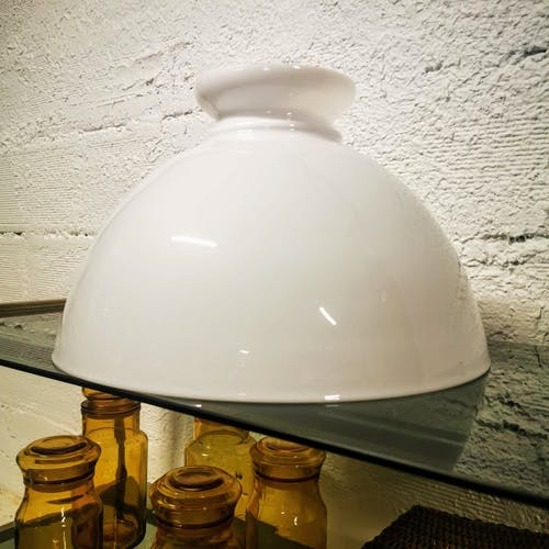 Globe en opaline pour suspension