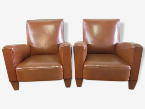 Paire de fauteuils Club année 1950