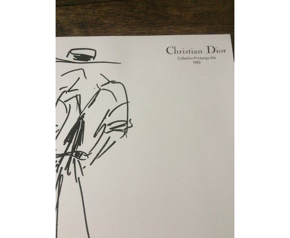 Christian Dior, fashion illustration, spring-summer 1985