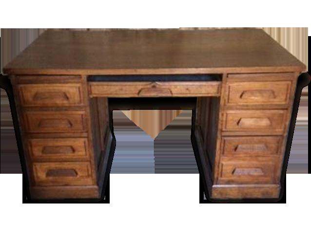Bureau bois notaire bureau de notaire meuble grand bureau de