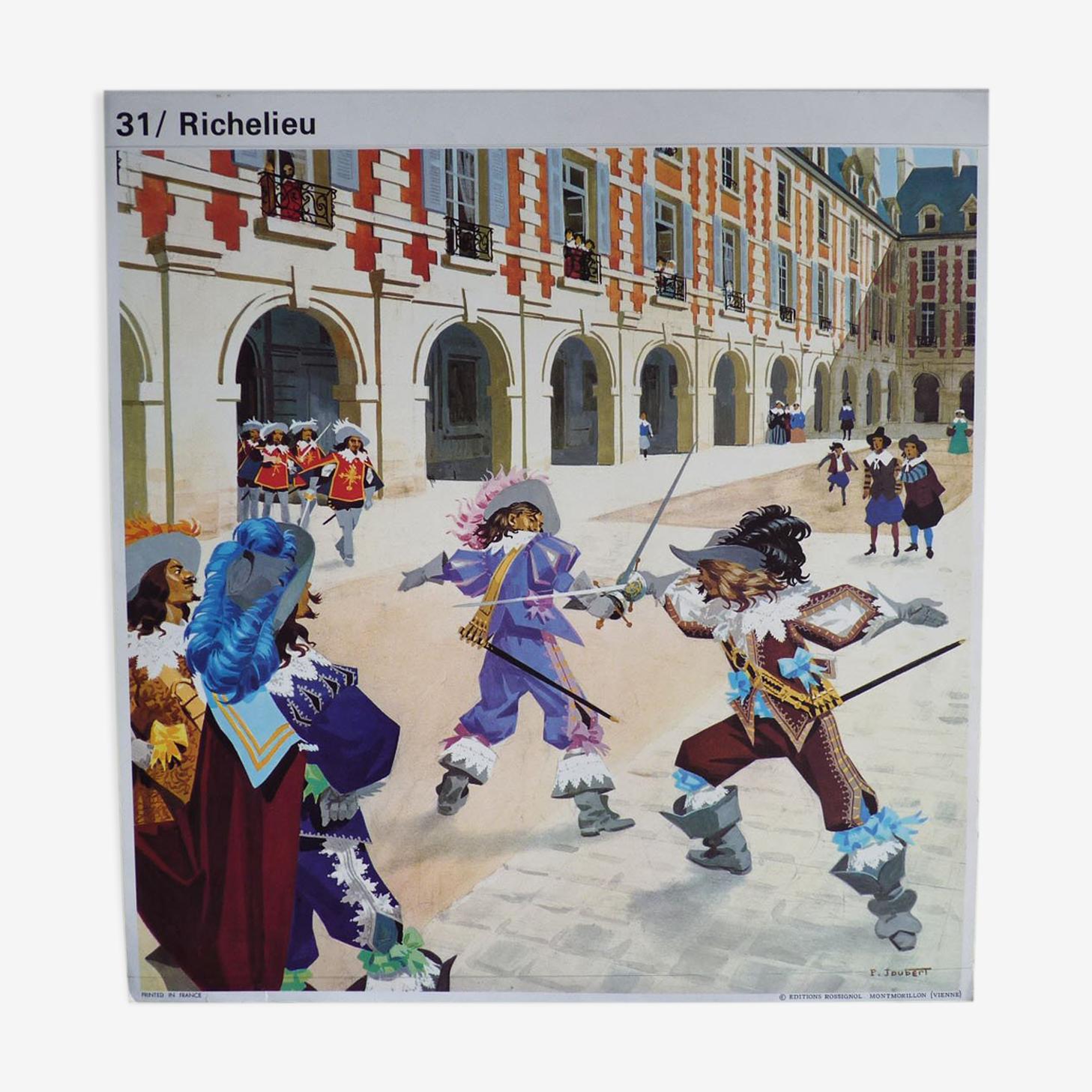 School poster: Richelieu - Mazarin