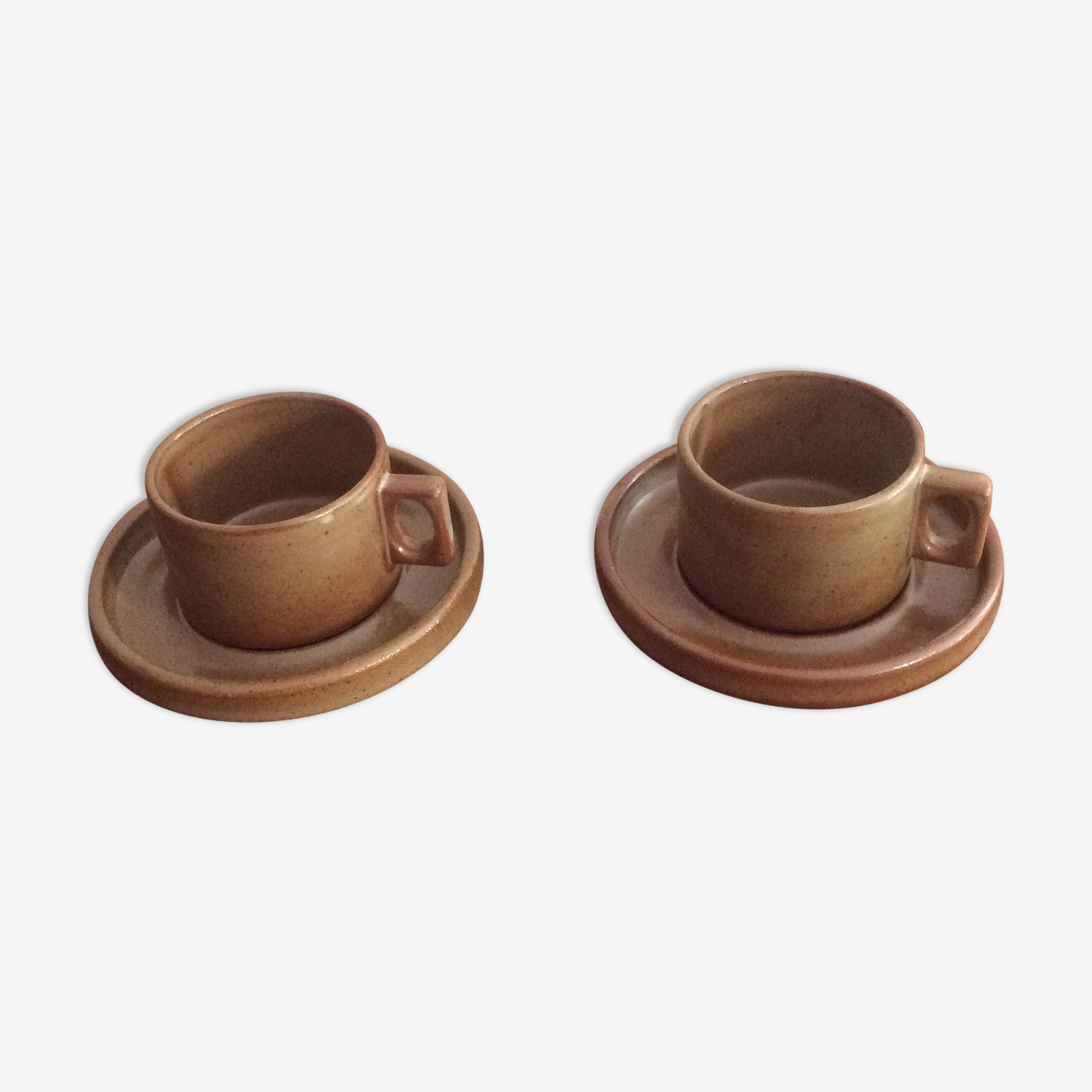 Two cups and saucers Brenne sandstone
