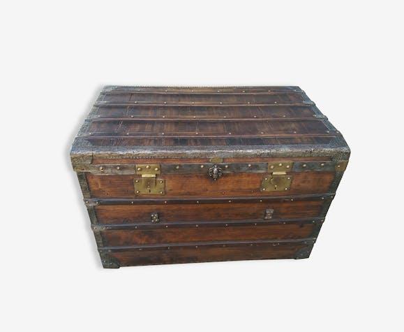 malle de voyage ancienne en bois antheaume bois. Black Bedroom Furniture Sets. Home Design Ideas