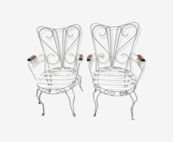 Paire de fauteuils de jardin 1920