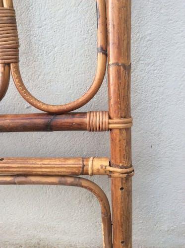 Tête de lit bambou rotin vintage
