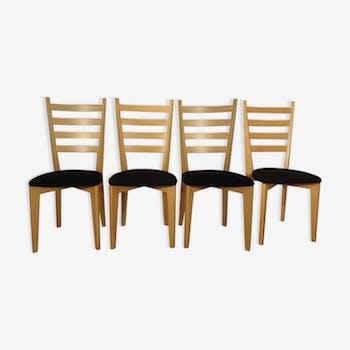 "Lot de 4 chaises danoises Marque ""Skovby"""