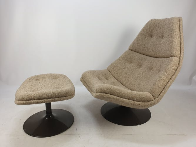 F510 lounge chair and ottoman by Geoffrey Harcourt for Artifort, 1970s